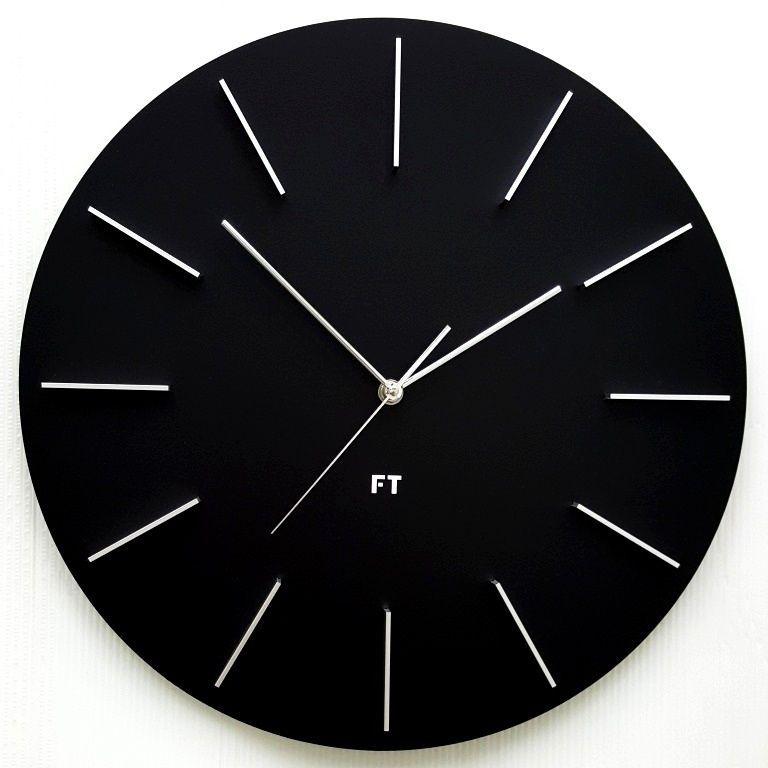 Designové nástěnné hodiny Future Time FT2010BK Round black 40cm 166542 Hodiny