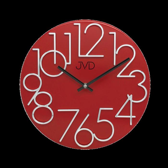 Hodiny JVD červené HT23.7 166746 Hodiny