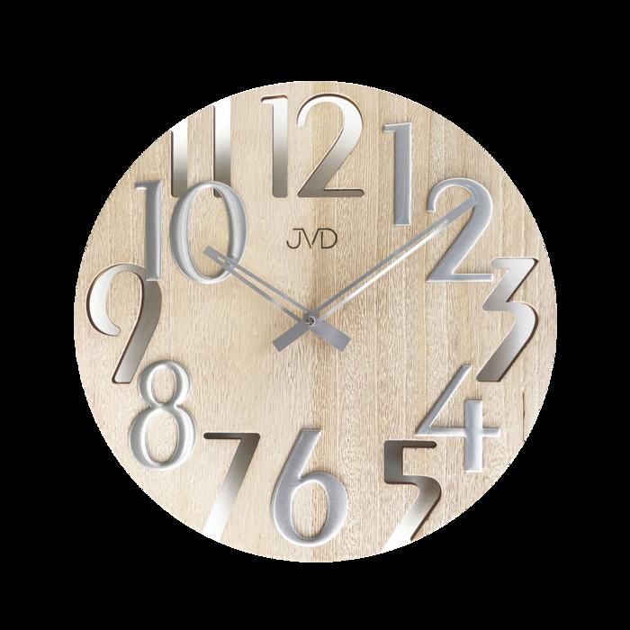 Hodiny na zeď Hodiny JVD dřevo světlé HT101.4 166748 Designové hodiny