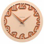 Hodiny na zeď Designové hodiny 10-002 CalleaDesign Labirinto 30cm (více barevných verzí) Barva čokoládová - 69 161946 Designové hodiny