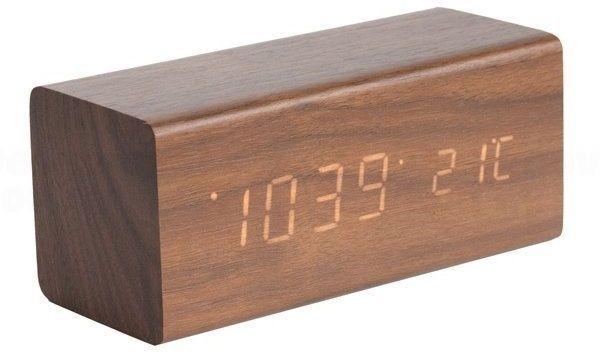 Designový LED budík - hodiny 5652DW Karlsson 16cm 165869 Hodiny