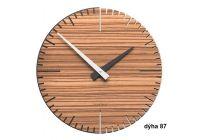 Designové hodiny 10-025 natur CalleaDesign Exacto 36cm (více dekorů dýhy) Design wenge - 89 166398 Hodiny
