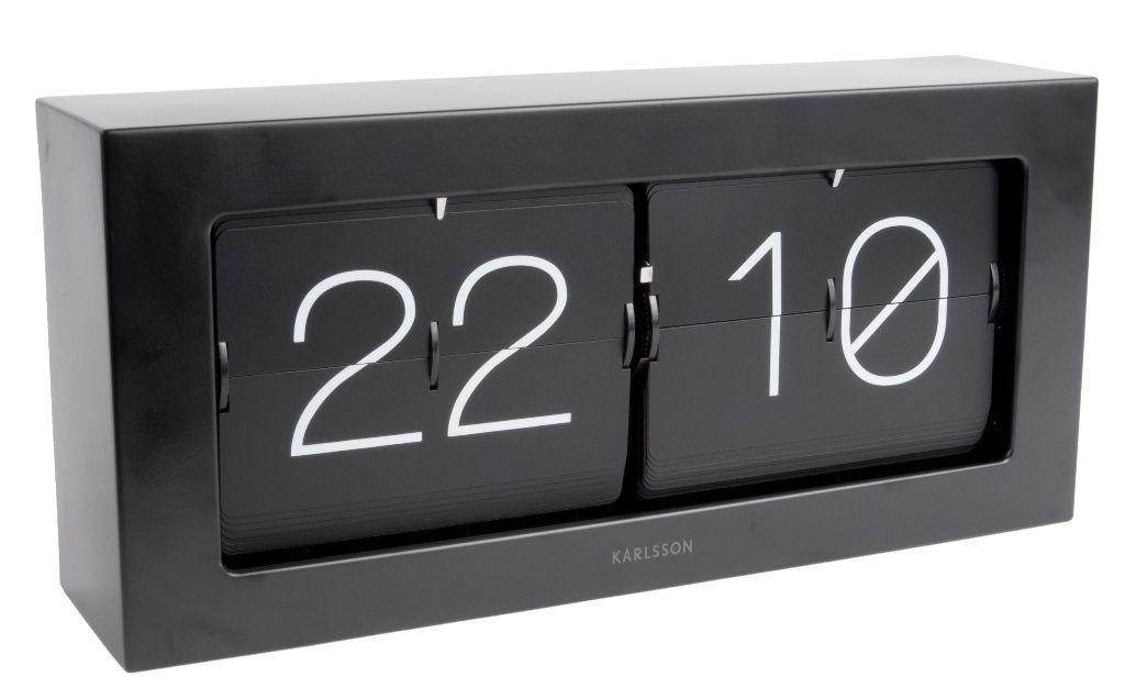 Designové nástěnné/stolní překlápěcí hodiny 5642BK Karlsson 37cm 166099 Hodiny