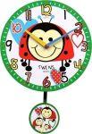 Nástěnné dětské hodiny Twins 10411 brouček 25cm 166332