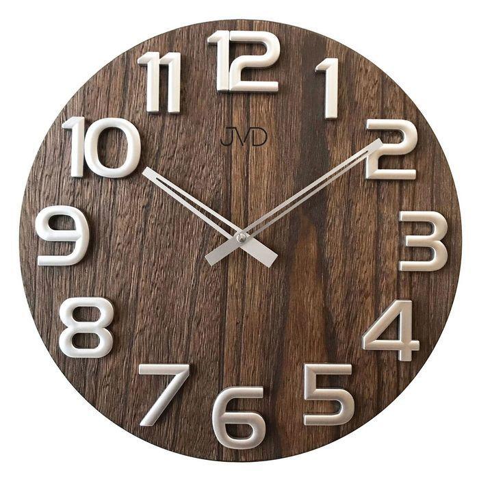 Nástěnné hodiny dřevěné JVD HT97.3 166213 Hodiny