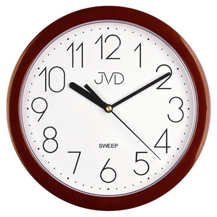 Nástěnné hodiny JVD sweep HP612.16 staro-růžová barva metalická 166212