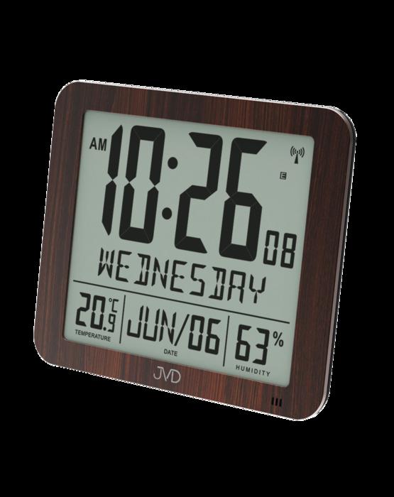 Rádiem řízené digitální hodiny s budíkem JVD hnědé DH9335.2 166175