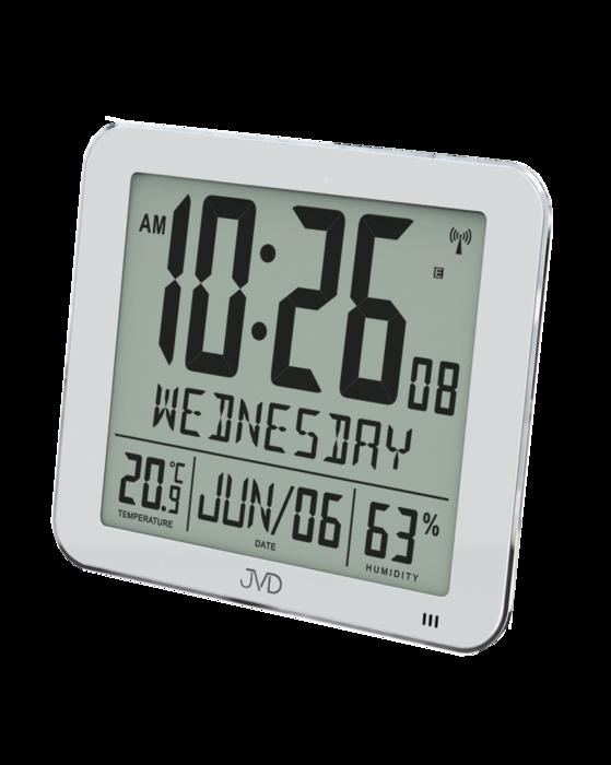 Rádiem řízené digitální hodiny s budíkem JVD stříbrné DH9335.1 166174 Hodiny