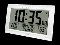 Rádiem řízené digitální hodiny s budíkem JVD stříbrné RB9075.2 166203