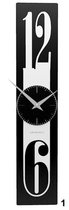 Designové hodiny 10-026 CalleaDesign Thin 58cm (více barevných verzí) Barva černá klasik-5 - RAL9017 166439 Hodiny