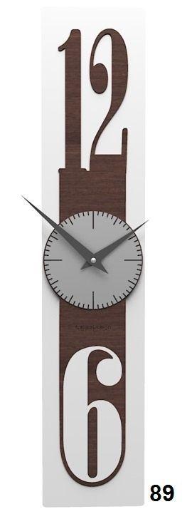 Designové hodiny 10-026 natur CalleaDesign Thin 58cm (více dekorů dýhy) Design bělený dub - 81 166464 Hodiny