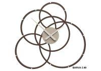 Designové hodiny 10-215 CalleaDesign Black Hole 59cm (více barevných verzí) Barva světle modrá klasik-74 - RAL5012 166412 Hodiny