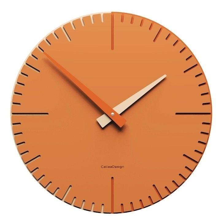 Designové hodiny 10-025 CalleaDesign Exacto 36cm (více barevných verzí) Barva grafitová (tmavě šedá)-3 - RAL9007 166472 Hodiny