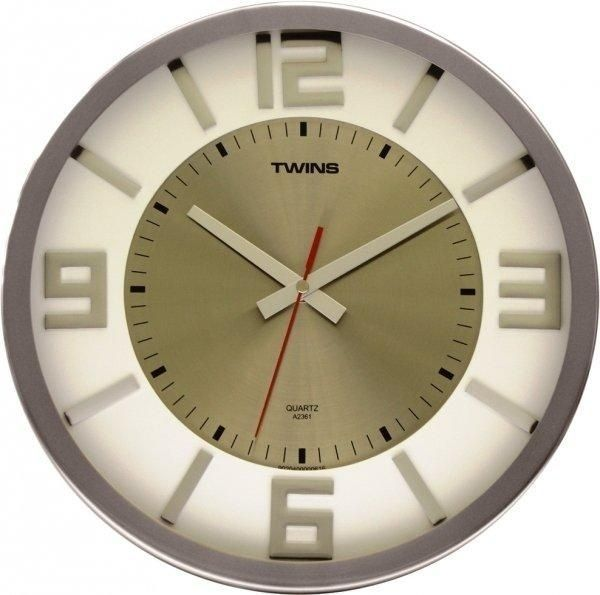 Nástěnné hodiny Twins 2361 white 32cm 166828 Hodinářství