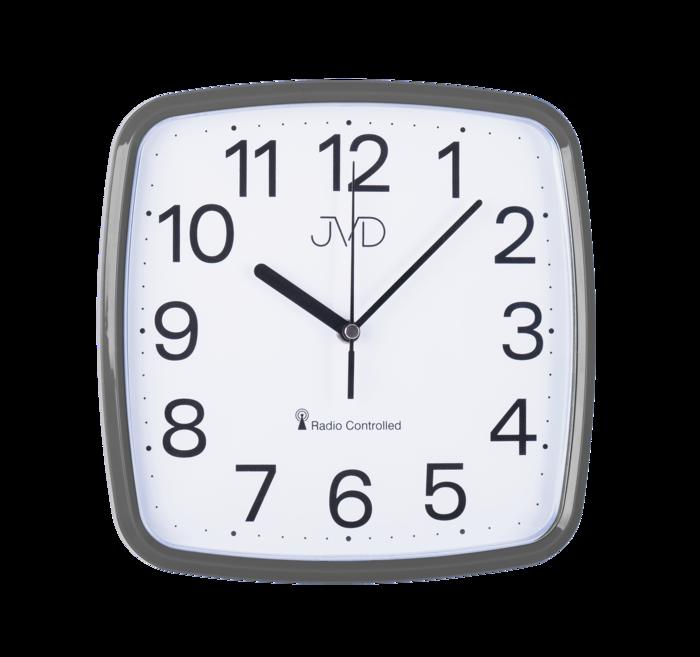 Rádiem řízené hodiny JVD met. šedá RH616.6 166782 Hodinářství