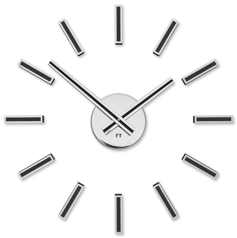 Designové nalepovací hodiny Future Time FT9400BK Modular black 40cm 167159 Hodiny
