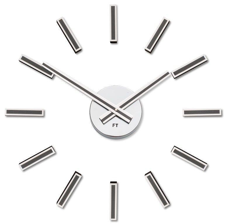 Hodiny na zeď Designové nalepovací hodiny Future Time FT9400TT Modular titanium 40cm 167203 Designové hodiny