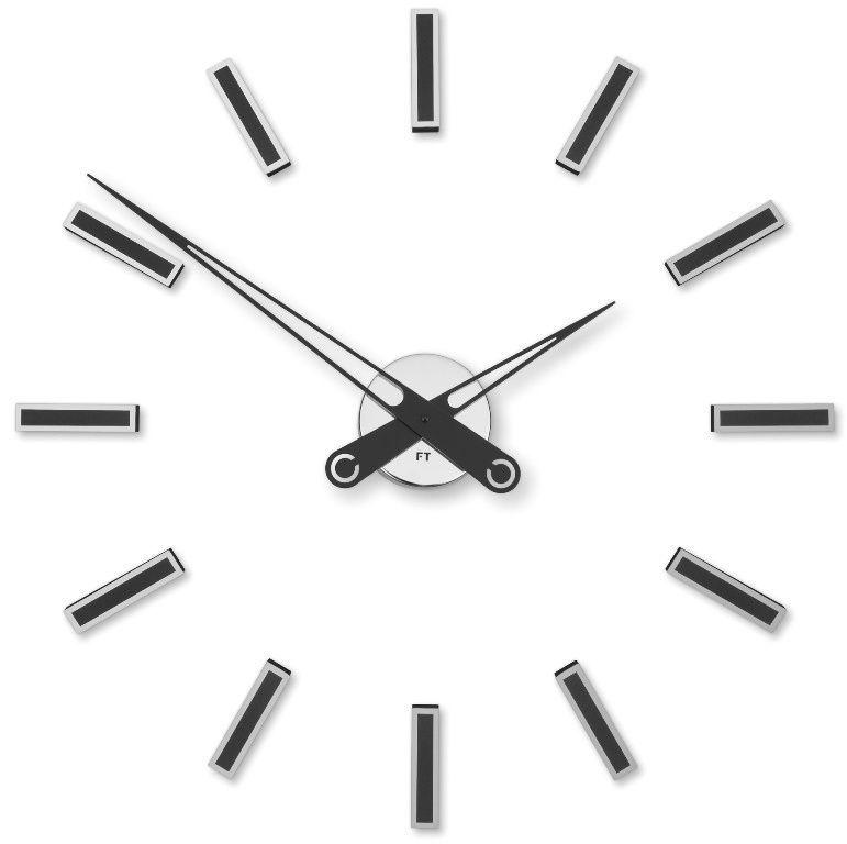 Designové nalepovací hodiny Future Time FT9600BK Modular black 60cm 167155