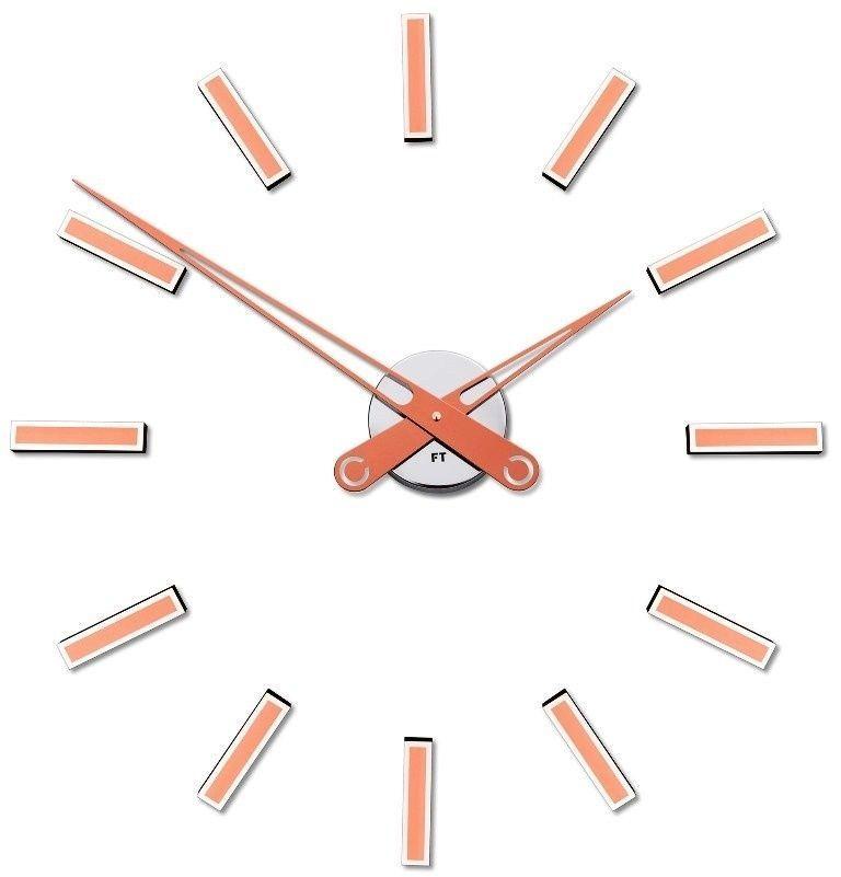 Designové nalepovací hodiny Future Time FT9600CO Modular copper 60cm 167207