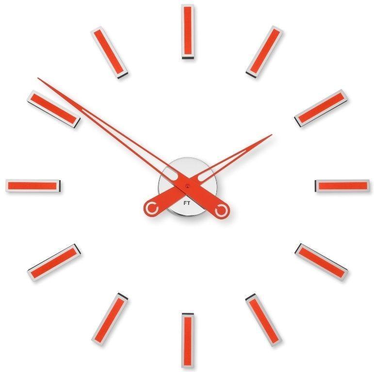 Designové nalepovací hodiny Future Time FT9600RD Modular red 60cm 167157