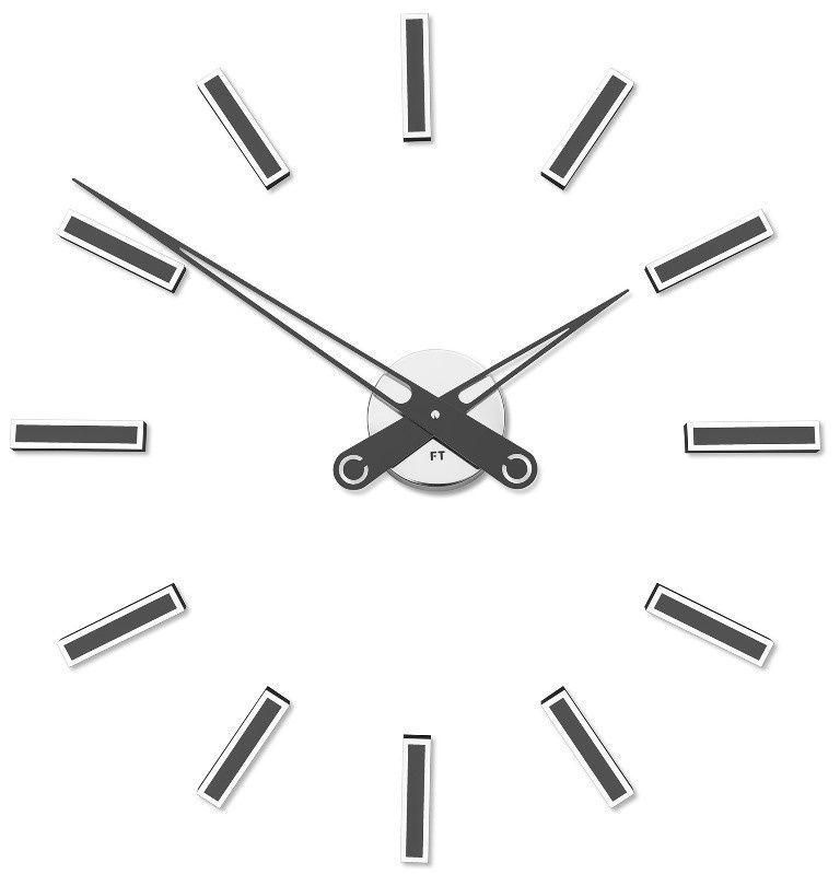 Designové nalepovací hodiny Future Time FT9600TT Modular titanium 60cm 167205 Hodiny