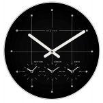 Designové nástěnné hodiny 214zw Nextime Big City black 43cm 166944