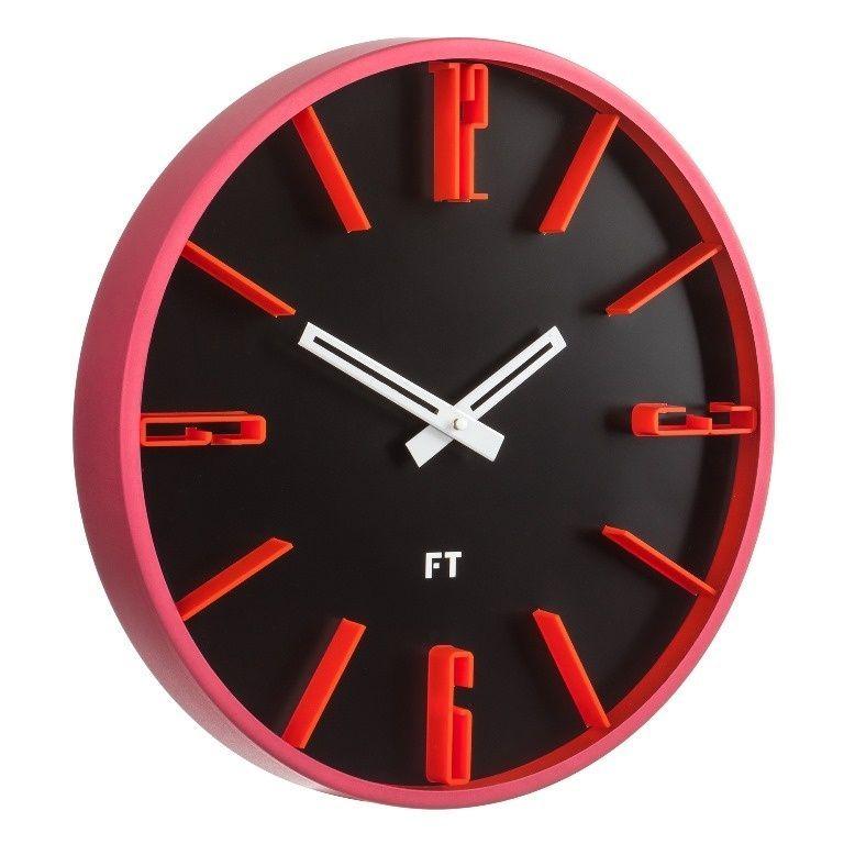 Designové nástěnné hodiny Future Time FT6010BK Numbers 30cm 167151