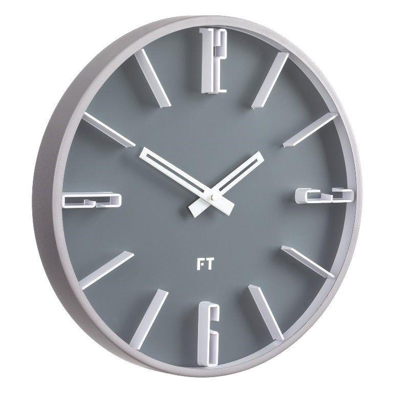 Designové nástěnné hodiny Future Time FT6010GY Numbers 30cm 167152
