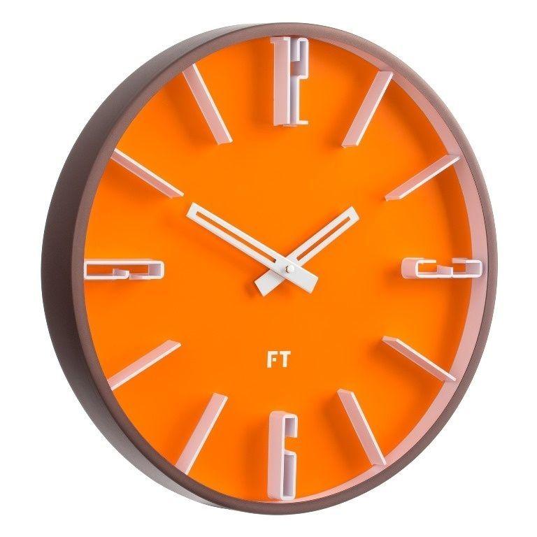 Designové nástěnné hodiny Future Time FT6010OR Numbers 30cm 167148 Hodiny