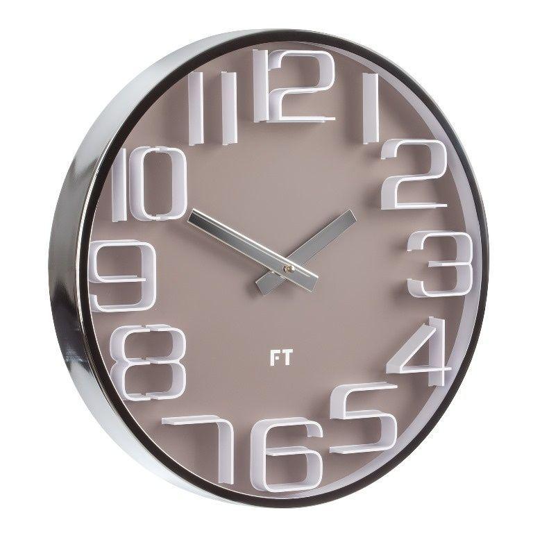 Designové nástěnné hodiny Future Time FT7010BR Numbers 30cm 167176 Hodiny