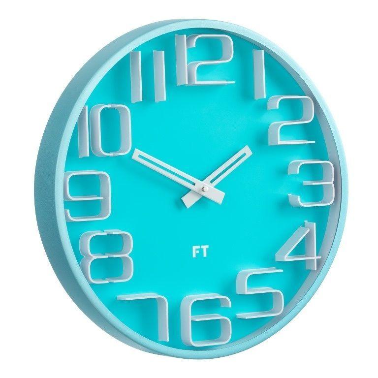 Designové nástěnné hodiny Future Time FT8010BL Numbers 30cm 167180 Hodiny