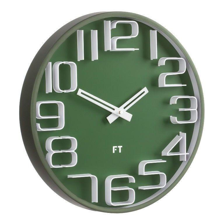 Designové nástěnné hodiny Future Time FT8010GR Numbers 30cm 167182 Hodiny