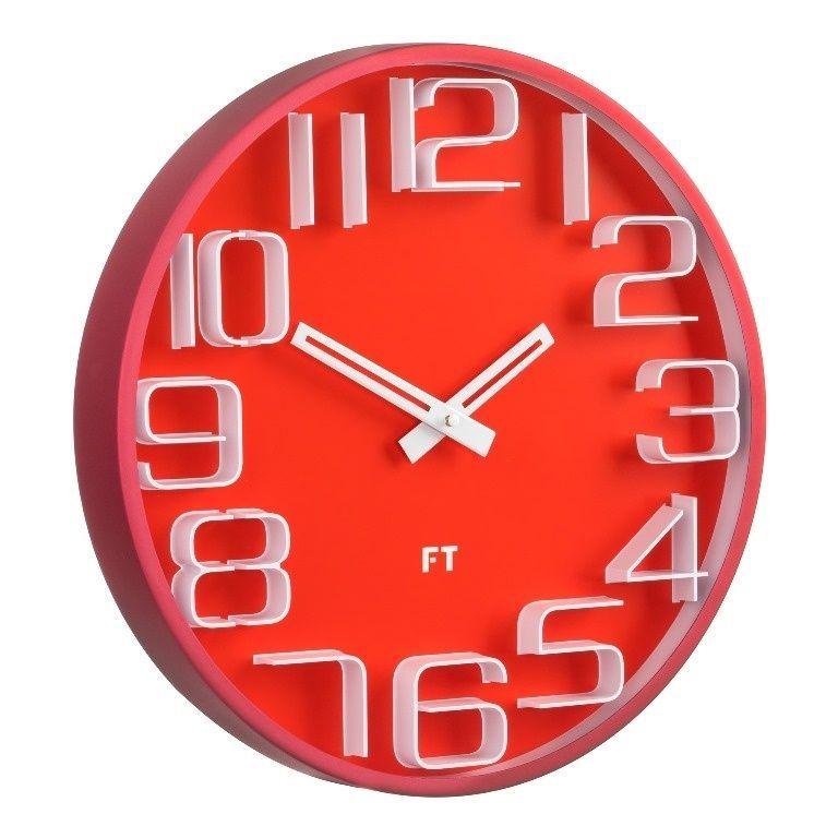 Designové nástěnné hodiny Future Time FT8010RD Numbers 30cm 167183 Hodiny