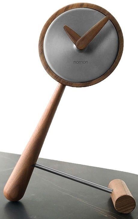 Designové stolní hodiny Nomon Small Puntero Graphite 26cm 166946 Hodiny