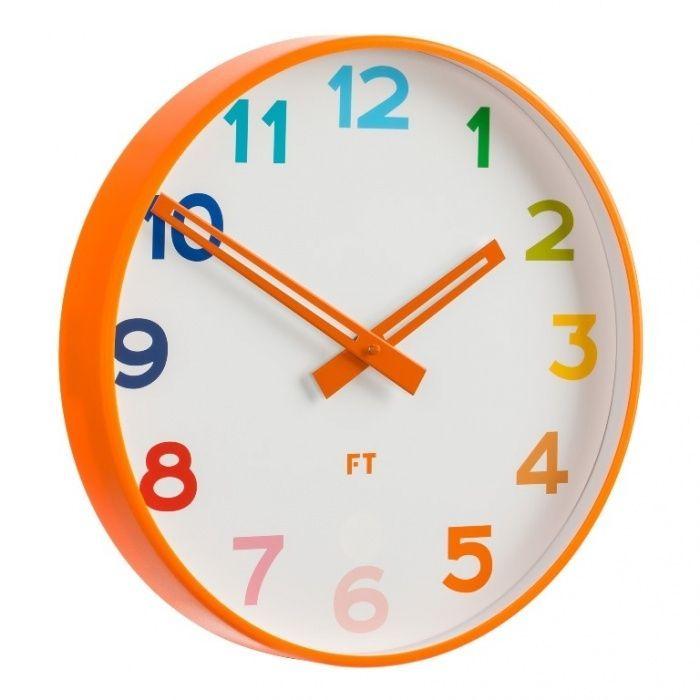Dětské nástěnné hodiny Future Time FT5010OR Rainbow orange 30cm 167051 Hodiny