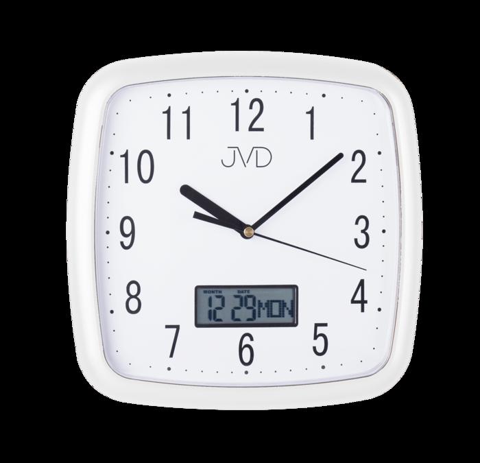 Hodiny JVD bílé DH615.4 166865 Hodiny