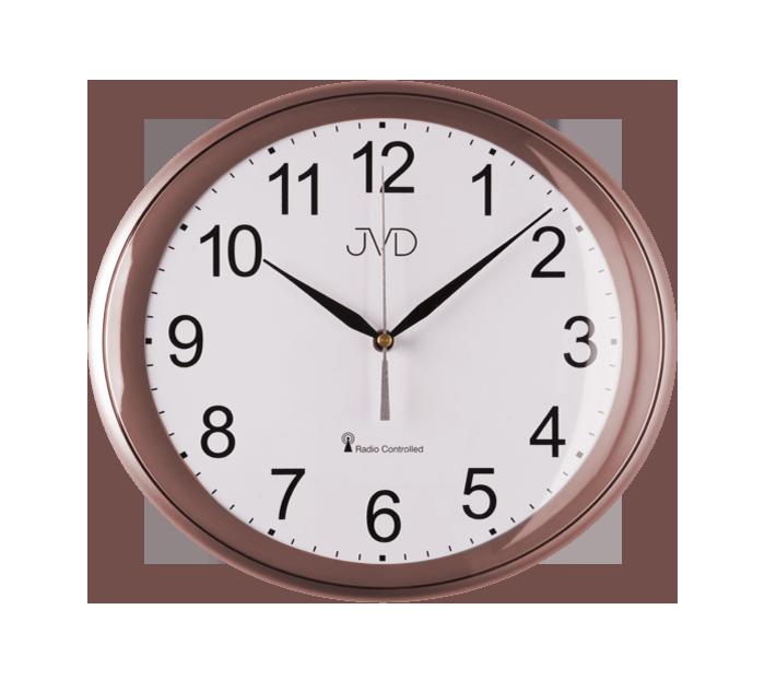 Rádiem řízené hodiny JVD rosé RH64.9 167046 Hodiny