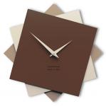 Designové hodiny 10-030 CalleaDesign Foy 35cm (více barevných verzí) Barva čokoládová-69 - RAL8017 167265