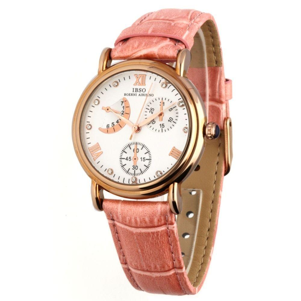 Elegantní dámské hodinky se zajímavým ciferníkem a pouzdrem z růžového zlata..027 167331