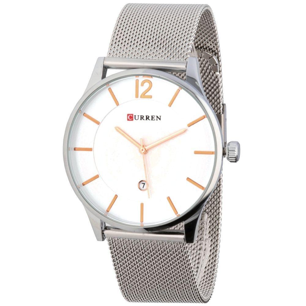 674d5236e79 Elegantní pánské hodinky s jemným ocelovým řemínkem a decentním bílým  ciferníkem..02 167293 A