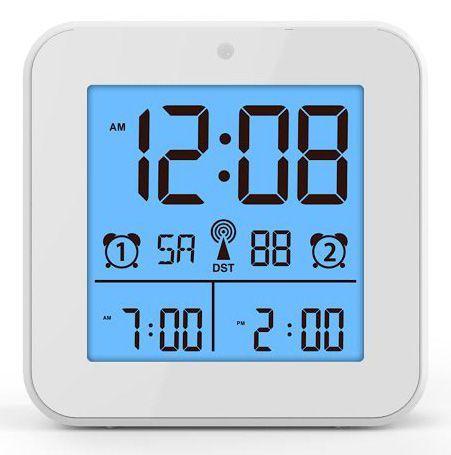 Hodiny na zeď Plastové stolní hodiny řízené rádiem..071 167381 Designové hodiny