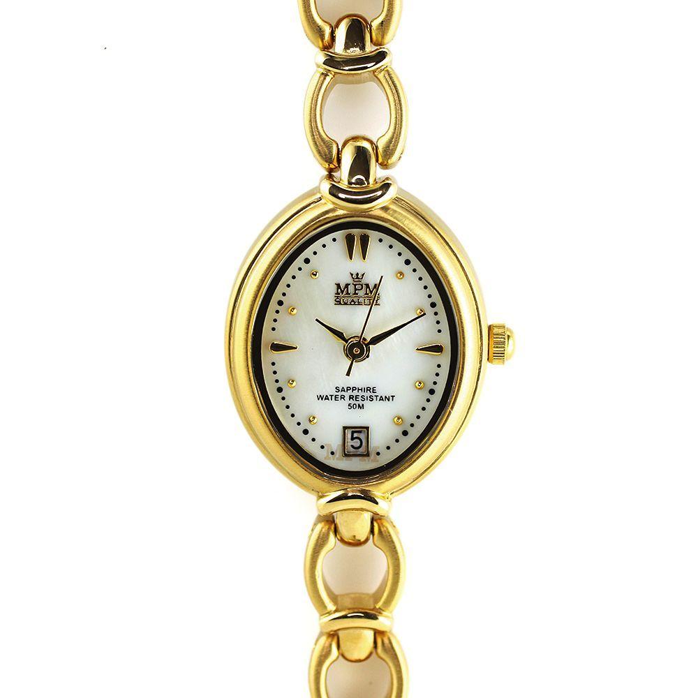 0354a181f48 Dámské elegantní hodinky s datumem a perleťovým číselníkem..0346 167677  A.Q01B02A80