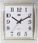 Hodiny na zeď Hranaté nástěnné hodiny s plynulým chodem..0169 167490 Designové hodiny