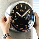 Kovové hodiny PRIM s netradičním ciferníkem svítící ve tmě, s teploměrem a vlhkoměrem..0165 167486