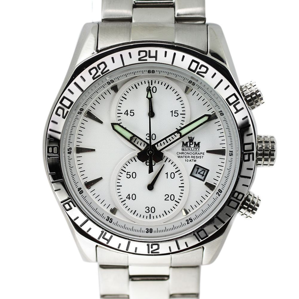 Panske hodinky s bilym cifernikem  4aa615ce84