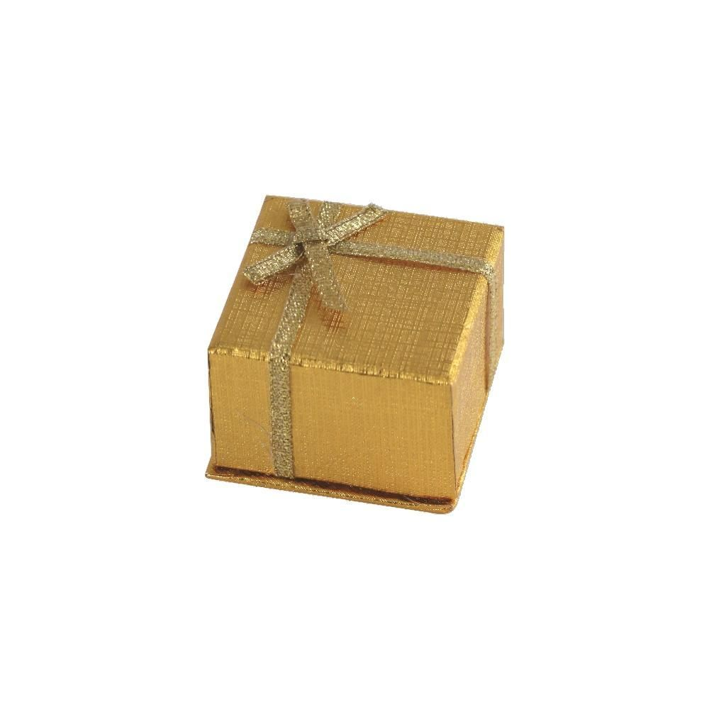 Dárková krabička ve zlaté barvě..0479 167818 Hodiny