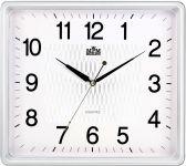 Nástěnné hodiny hranatého tvaru s jemným zdobením uprostřed ciferníku..0445 167784
