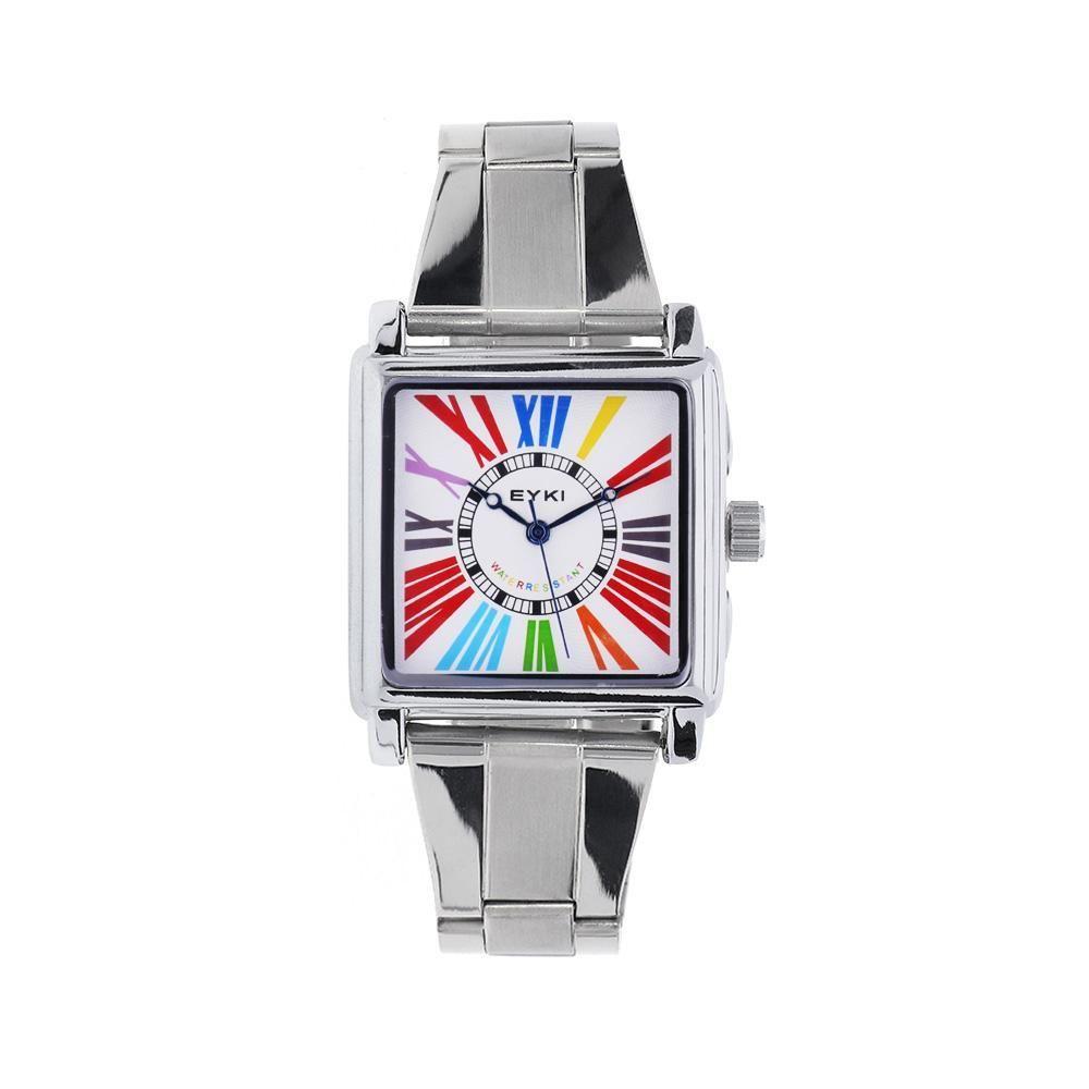 Dámské quartz hodinky s kovovým tahem a hranatým ciferníkem. nbsp .0968  168347 A abd58bbef4