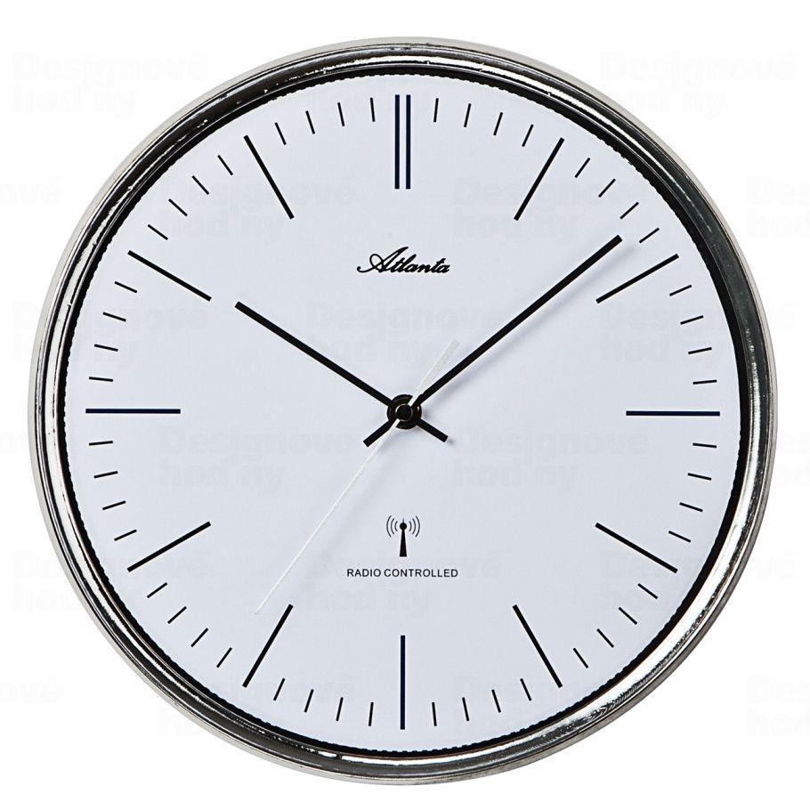 Designové nástěnné hodiny Atlanta AT4493 řízené signálem DCF 30cm 169853 Hodiny