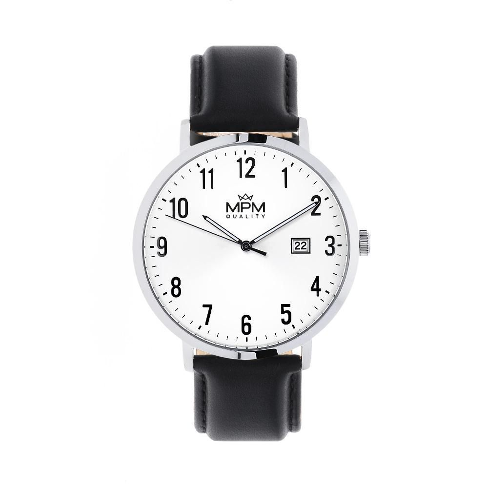Pánské nerezové hodinky MPM na nbsp elegantním koženém řemínku..01361  168999 A.Q01A0090B9090 d1d0467368